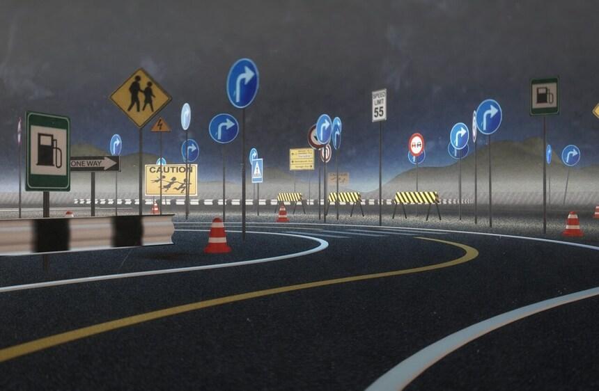 Типы информационного обеспечения участников дорожного движения