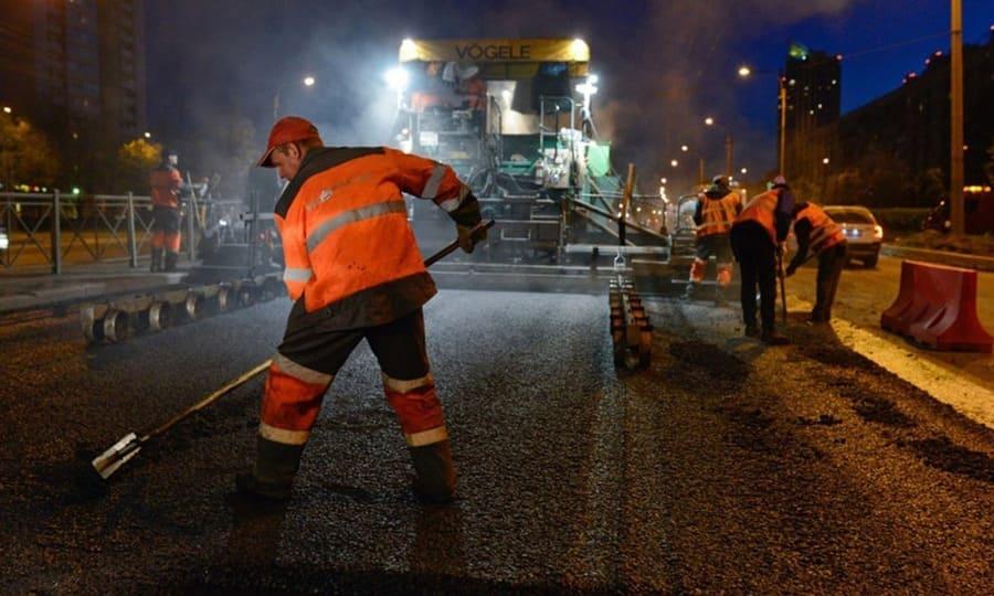 Дорожные работы в ночное время